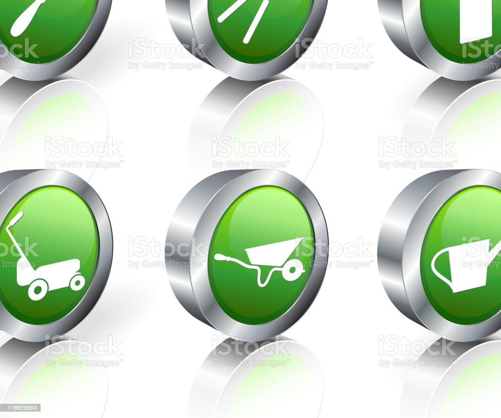 gardening tools 3D royalty free vector icon set royalty-free stock vector art
