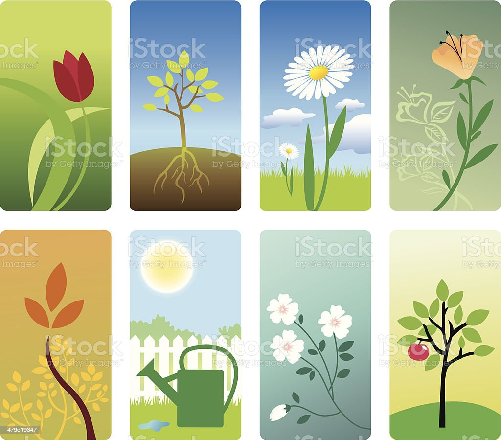 Gardening royalty-free stock vector art