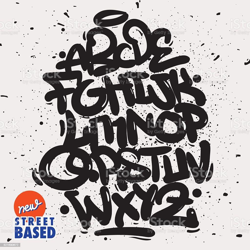 Garffiti Font vector art illustration