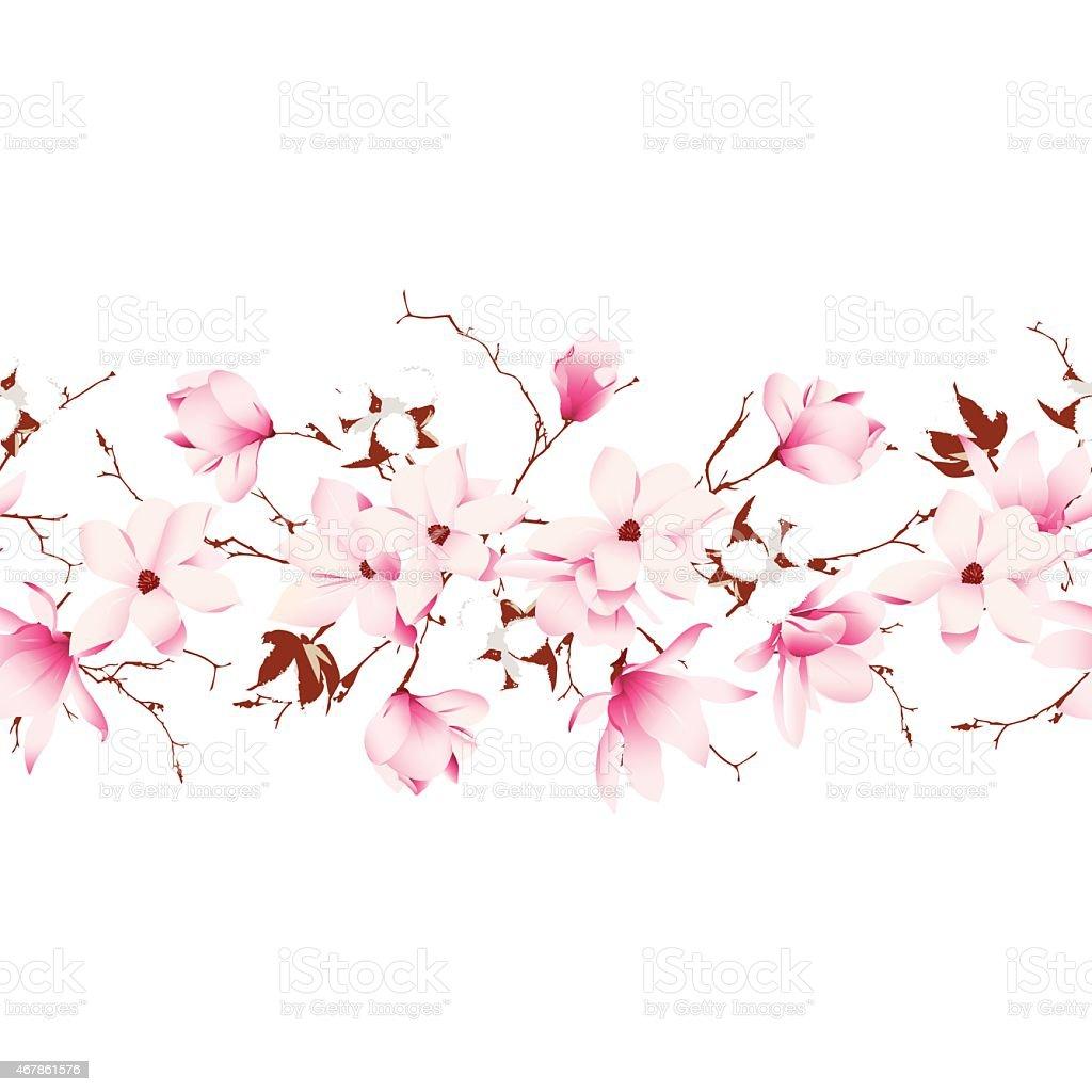 Garland seamless horizontal vector banner vector art illustration