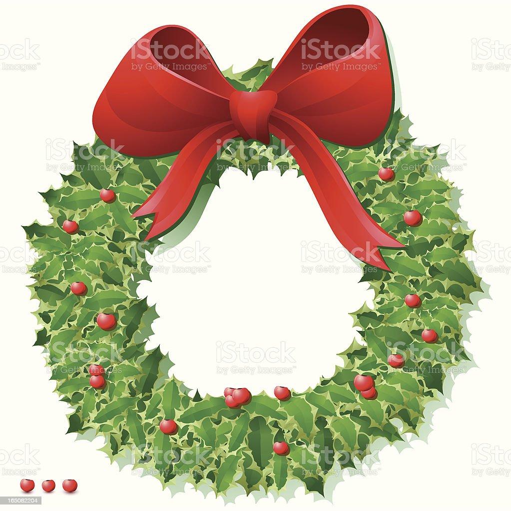 Garland Wreath royalty-free stock vector art