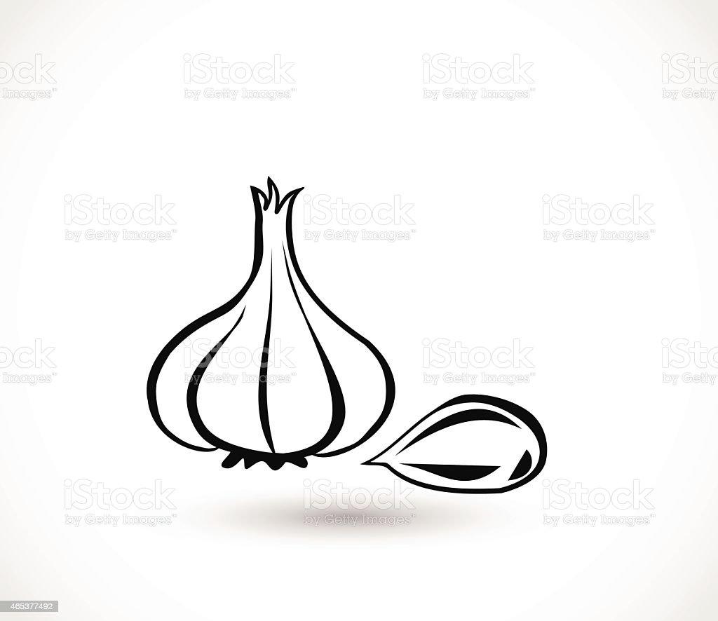 Garlic icon vector illustration vector art illustration