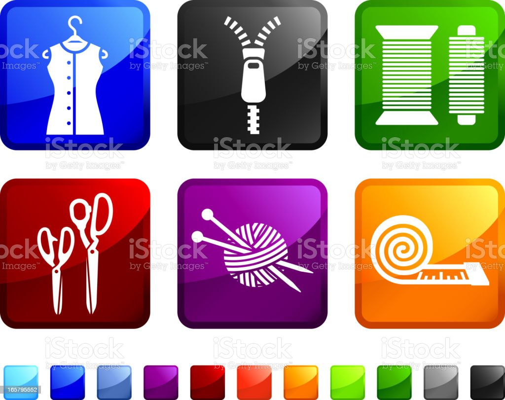 Garments and Accessories royalty free vector icon set stickers royalty-free stock vector art