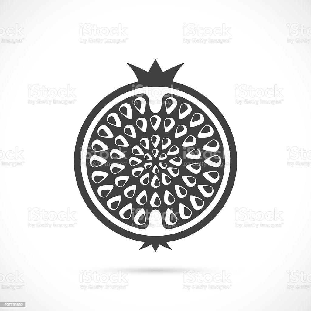 Garnet vector icon vector art illustration