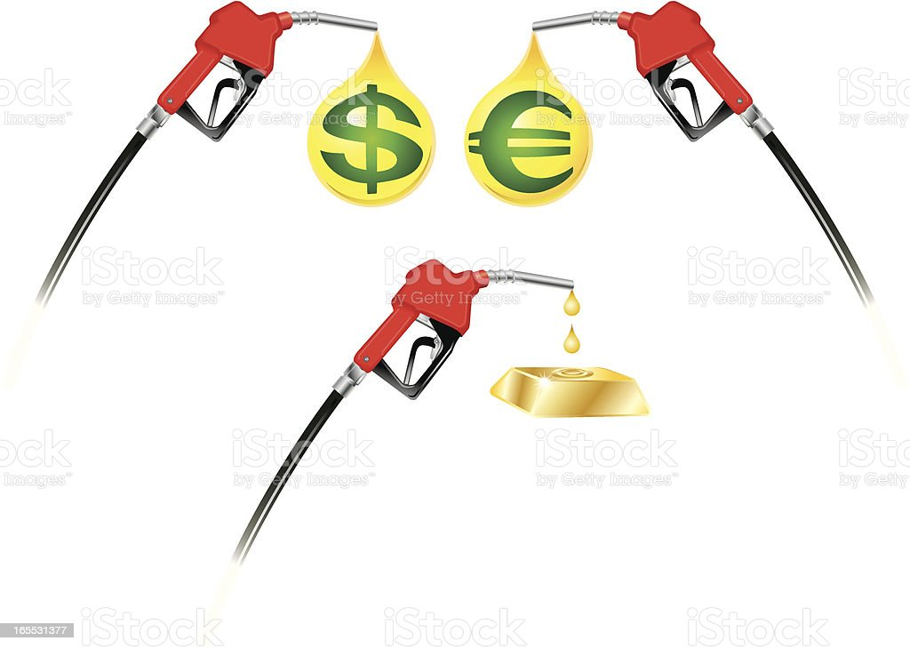 Gas and Diesel Prices royalty-free stock vector art