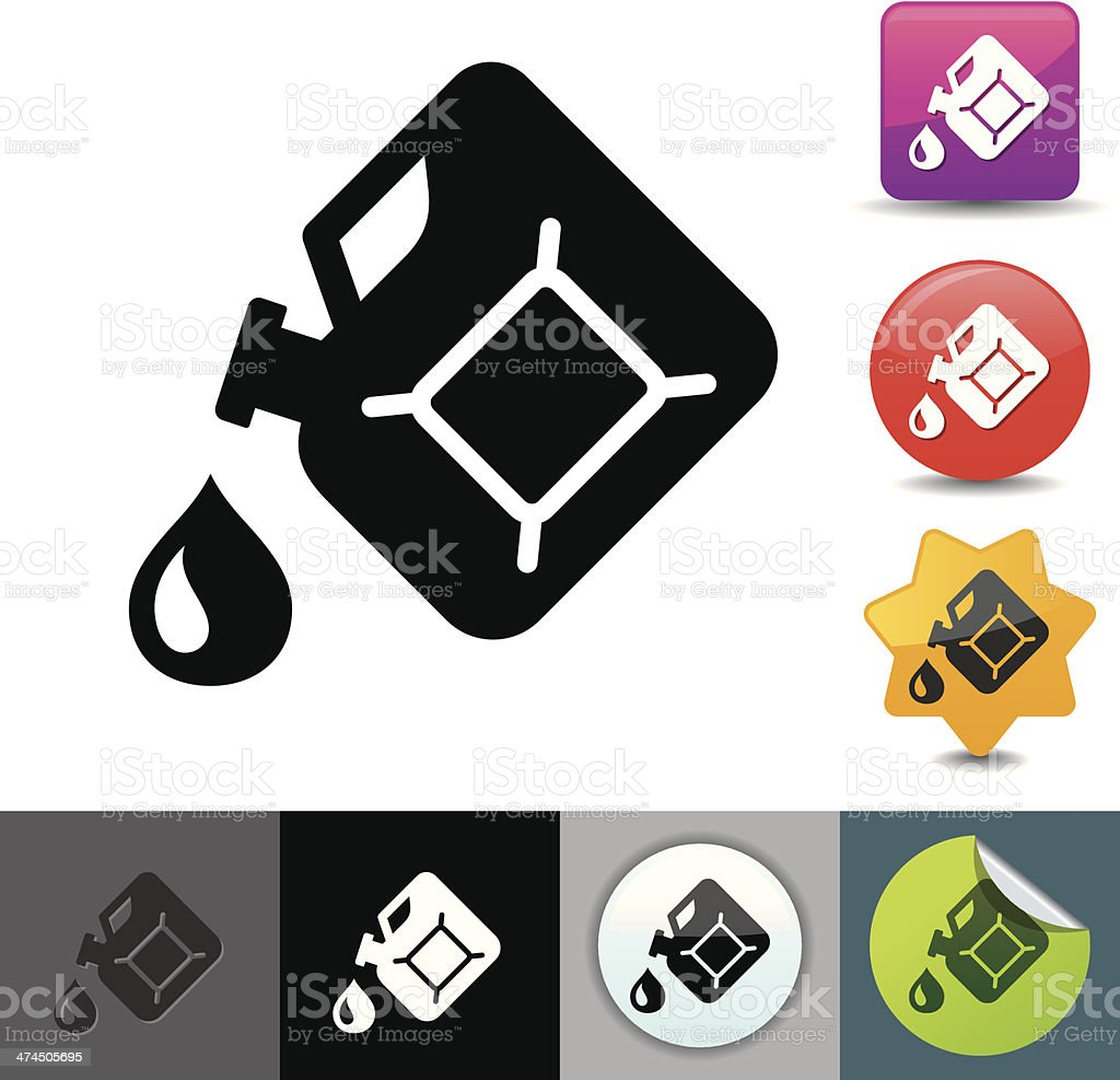 Gas can icon   solicosi series vector art illustration