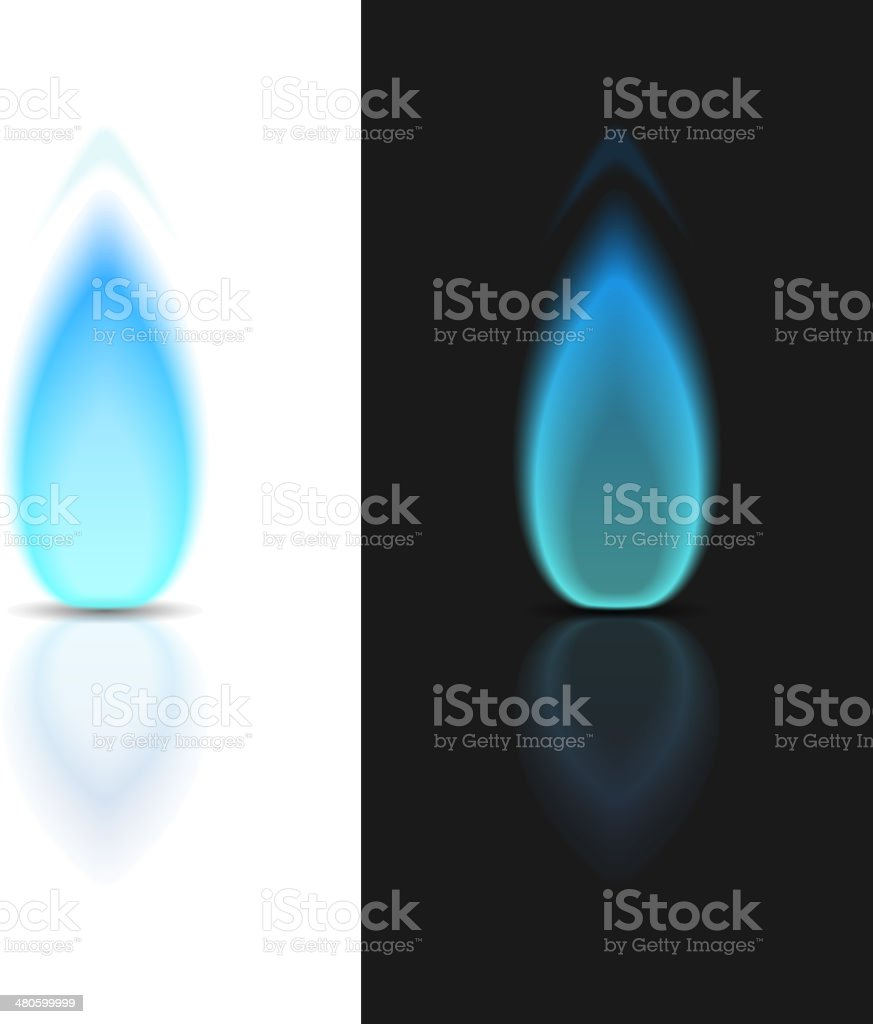 Gas Flame vector art illustration