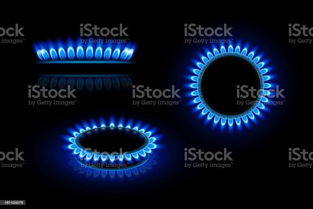gas flame vector art illustration