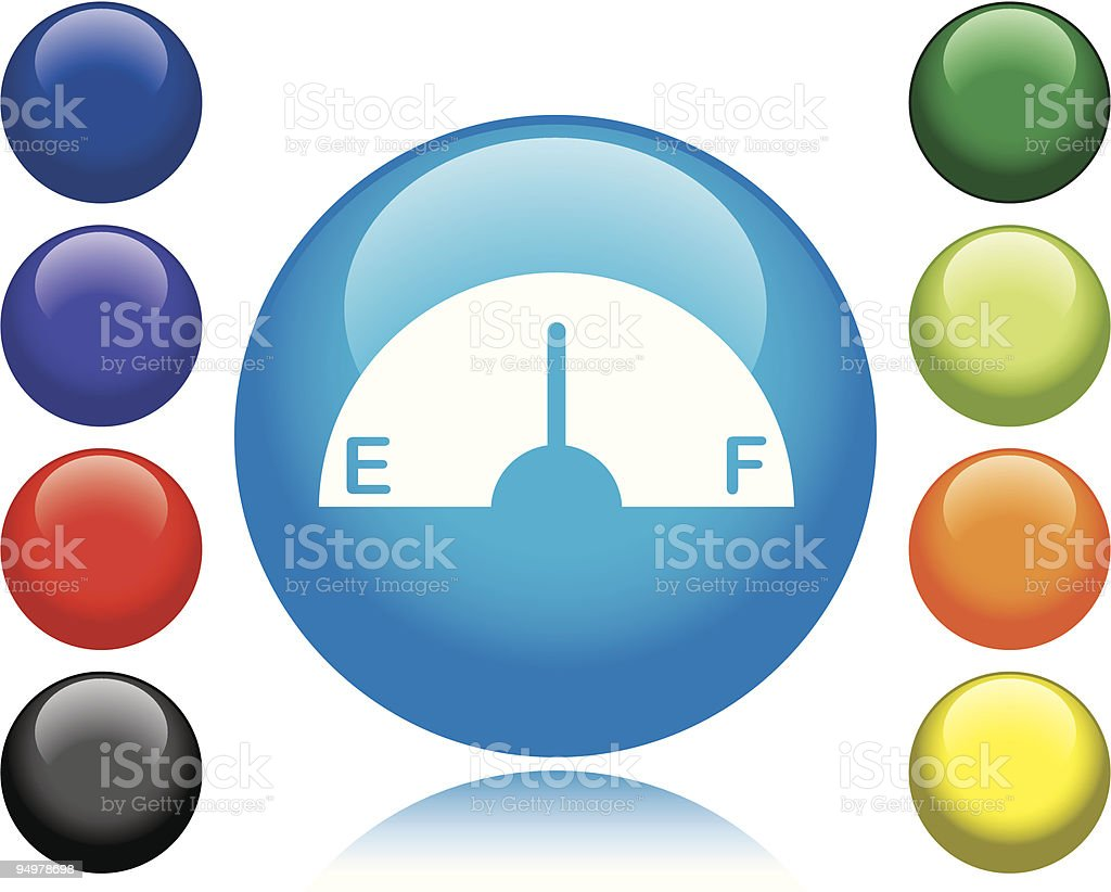 Gas Gage Icon royalty-free stock vector art