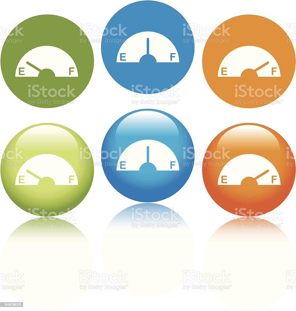 Gas Gage Icons royalty-free stock vector art