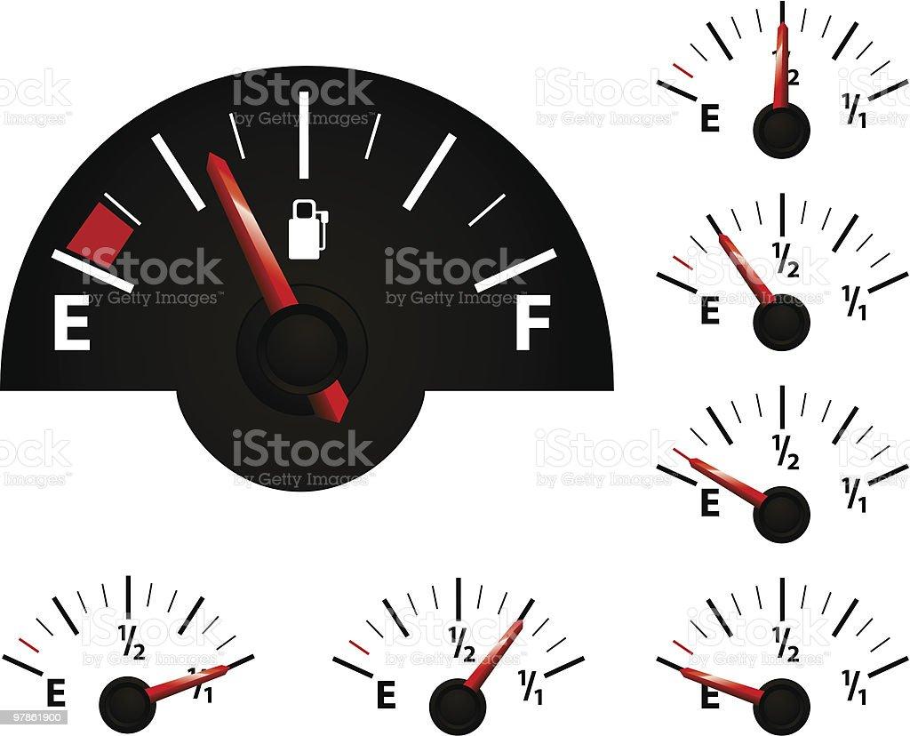 gas gauge - vector vector art illustration