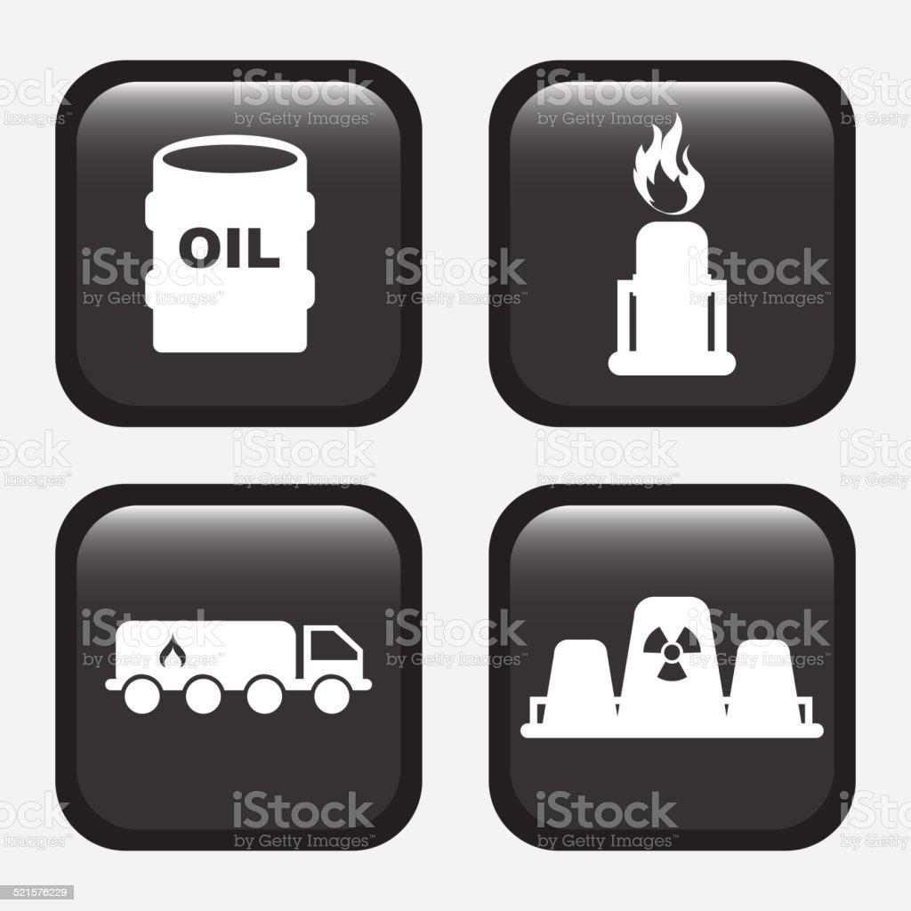 gas industry design vector art illustration