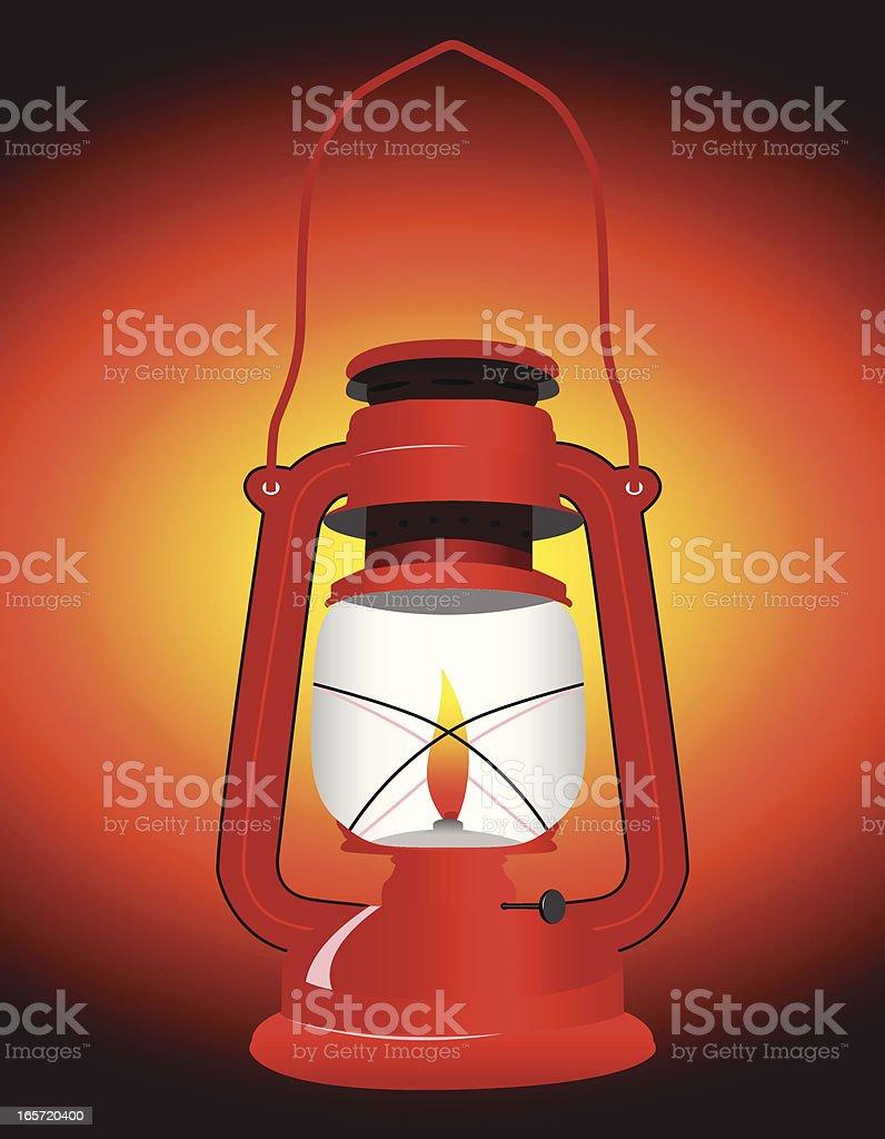 gas lamp vector art illustration
