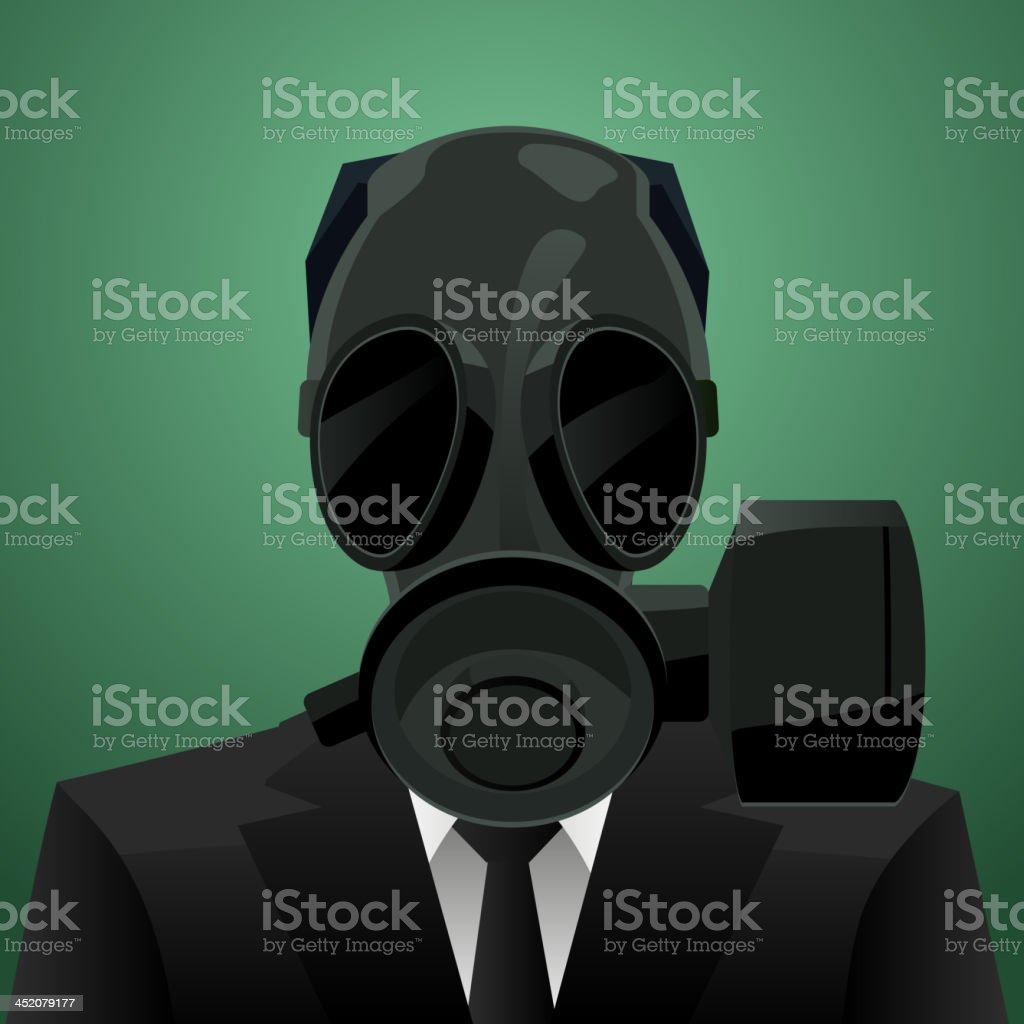 Gas Mask Businessman royalty-free stock vector art