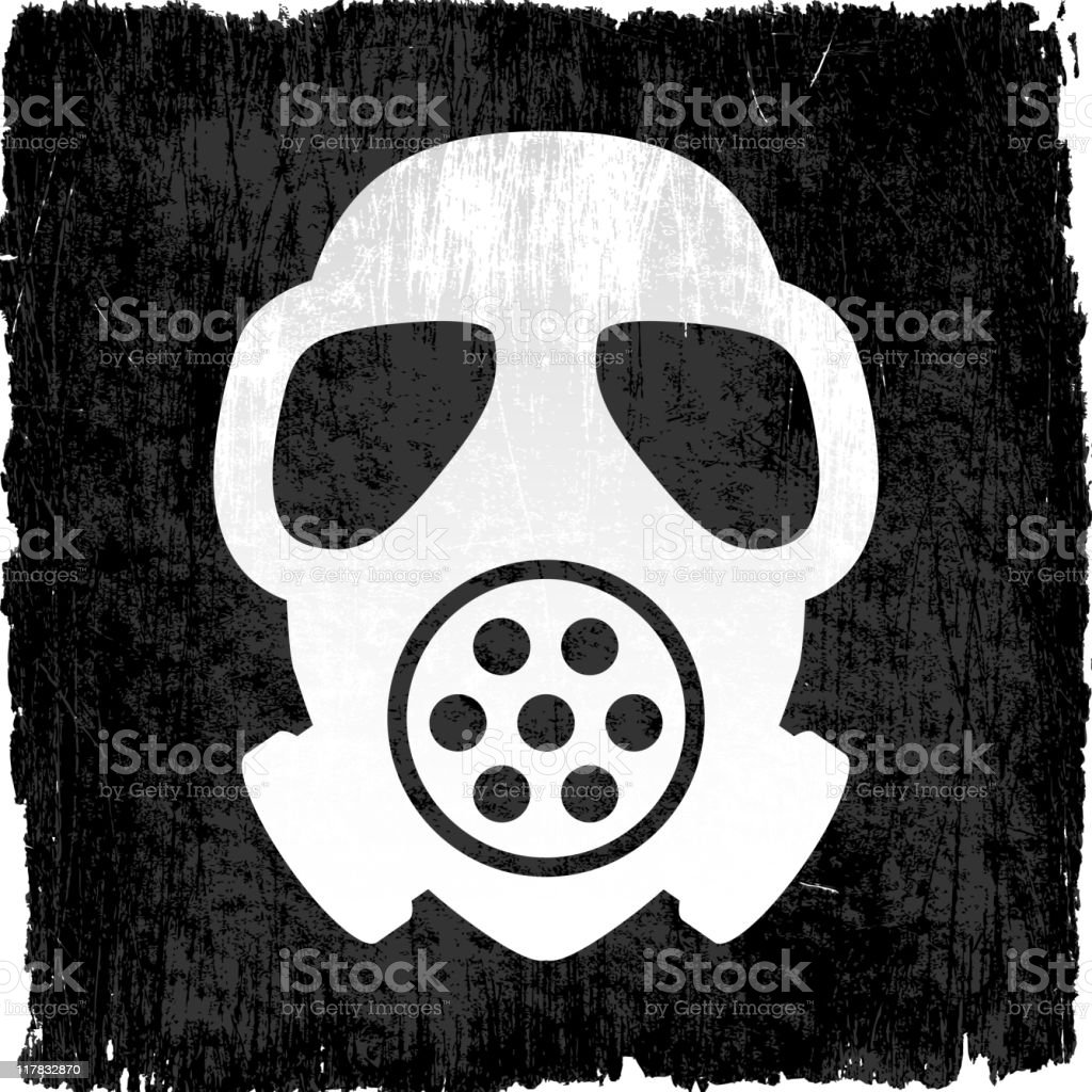 gas mask on royalty free vector Background royalty-free stock vector art
