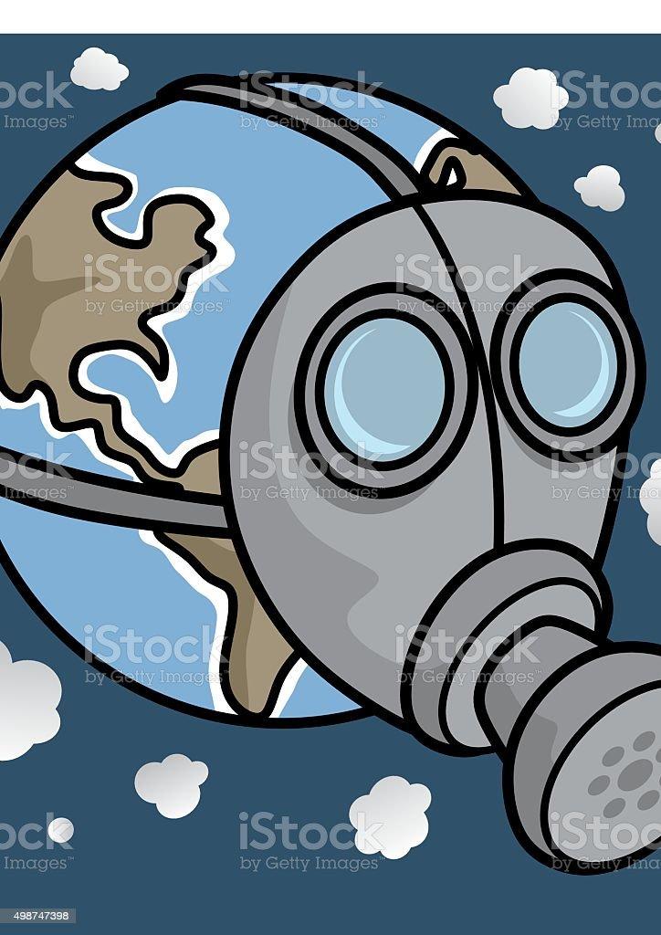 Gas mask vector art illustration