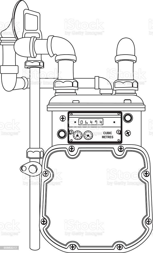 Gas Meter vector art illustration