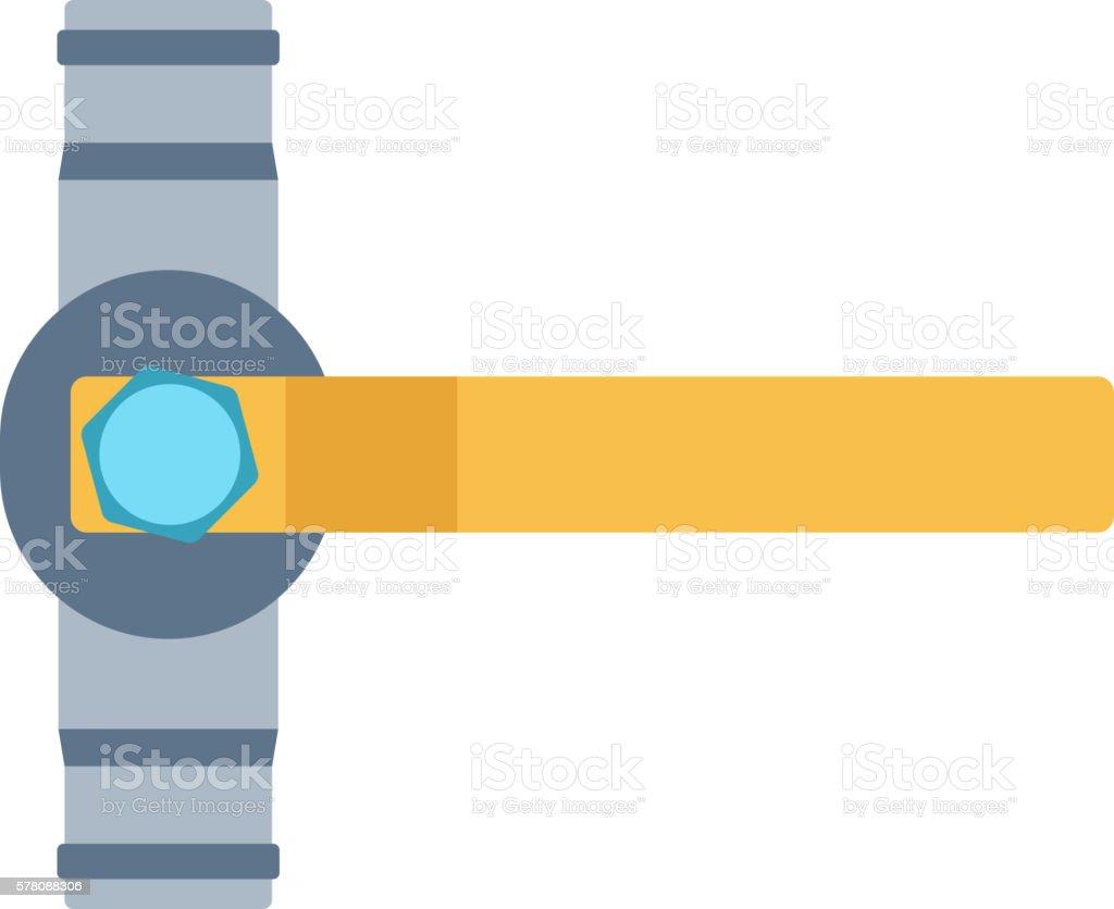 Gas or water crane flat icon vector illustration. vector art illustration
