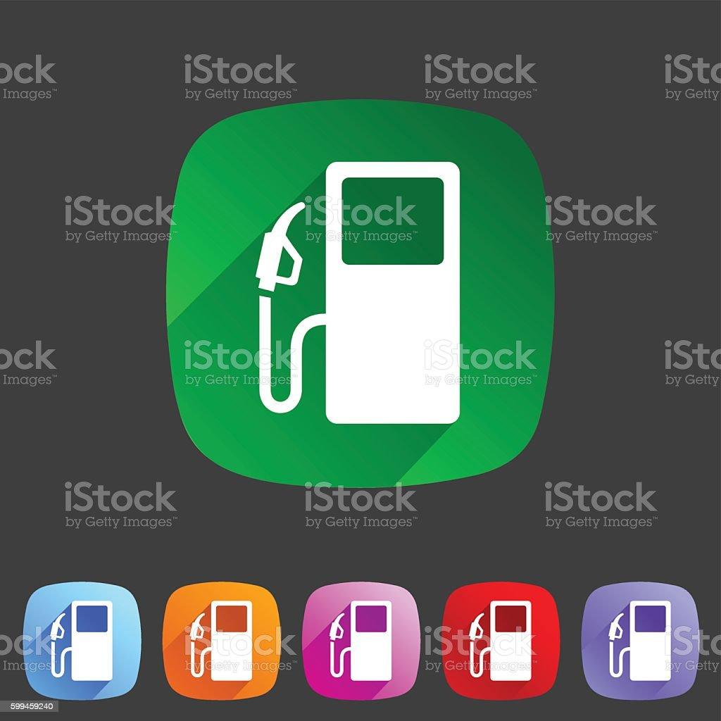 gas petrol fuel station icon flat web sign symbol logo vector art illustration