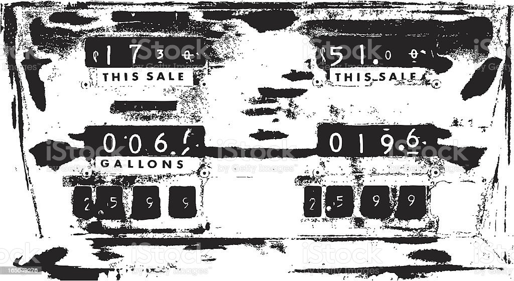 Gas Prices royalty-free stock vector art