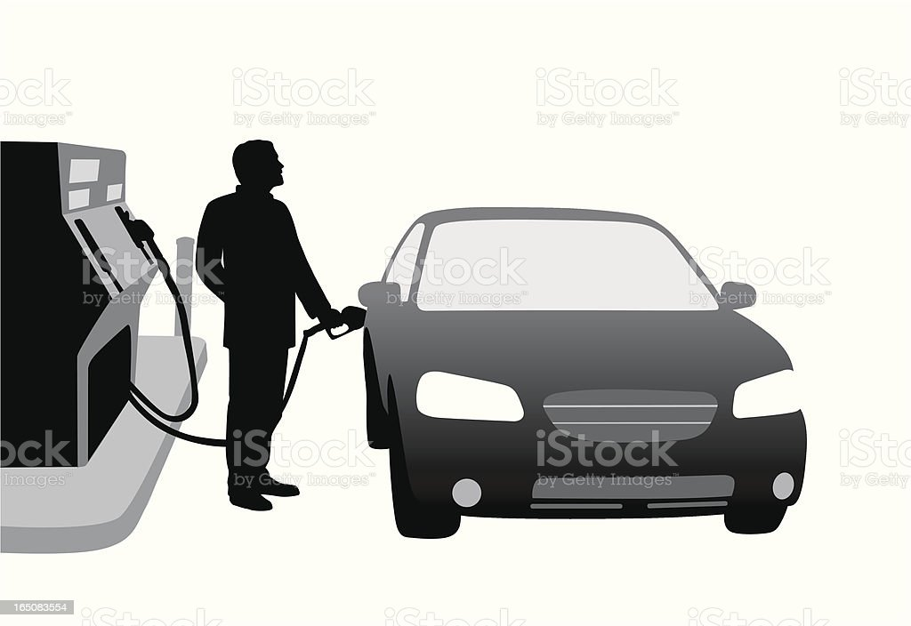 Gas Prices Vector Silhouette royalty-free stock vector art