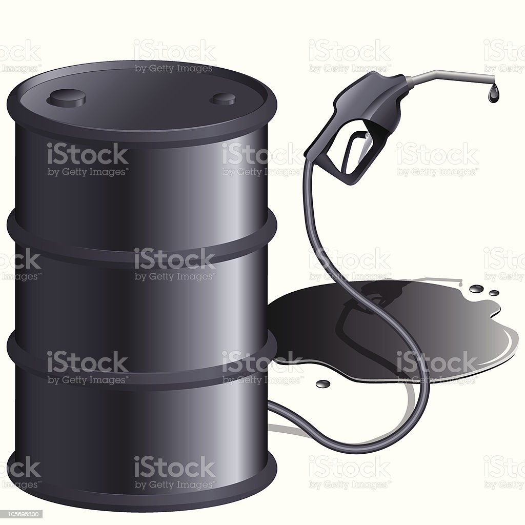 gas pump and can royalty-free stock vector art