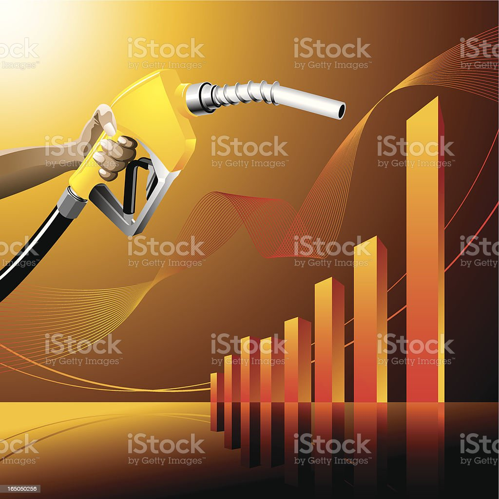 gas pump and graph royalty-free stock vector art
