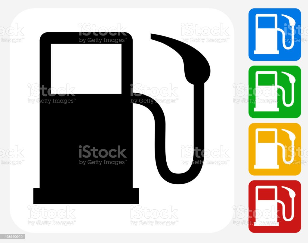 Gas Pump Icon Flat Graphic Design vector art illustration