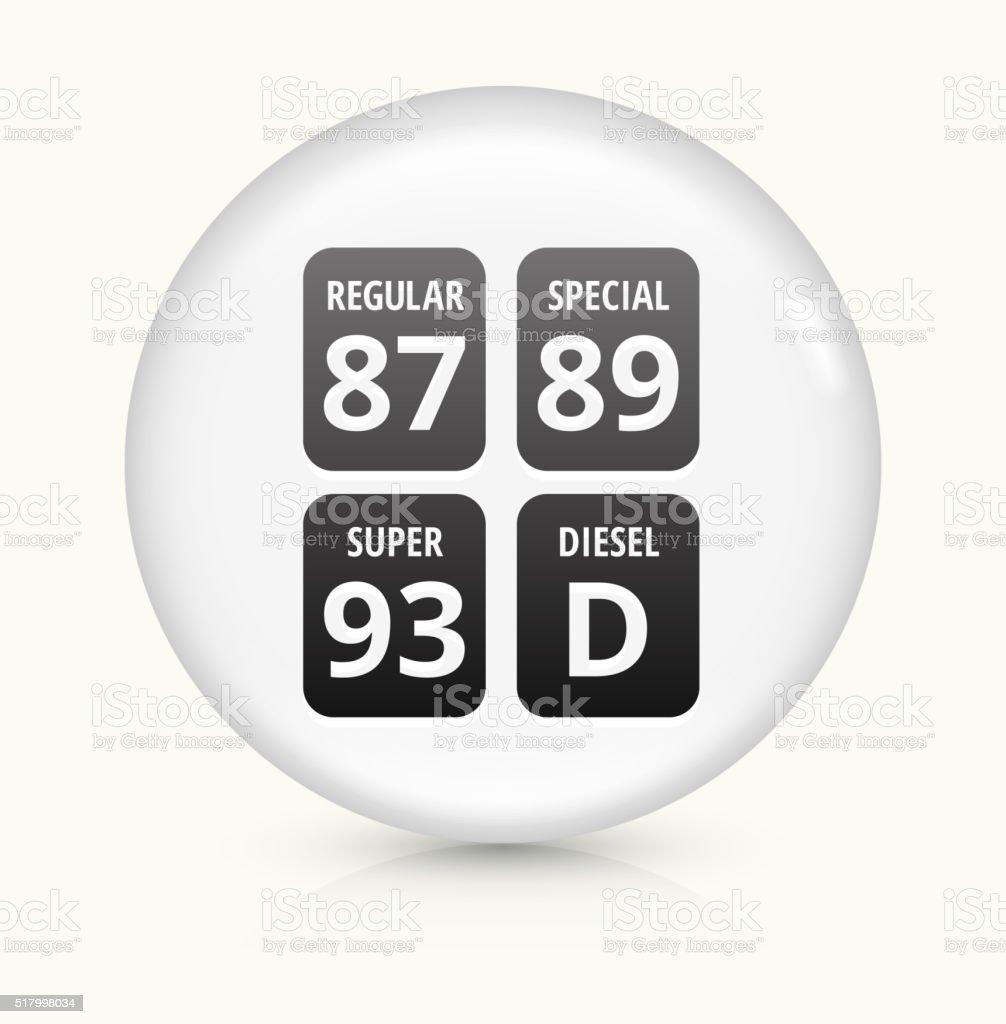 Gas Pump icon on white round vector button vector art illustration
