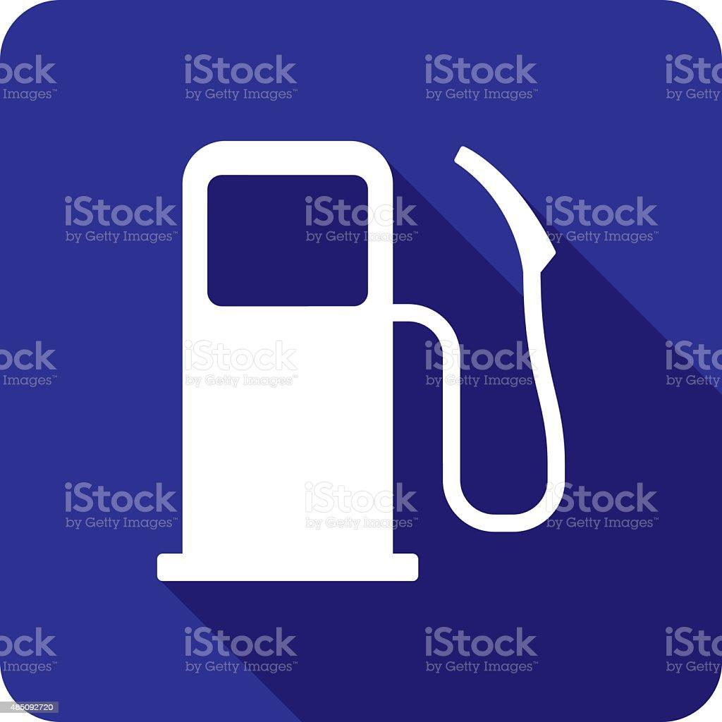 Gas Pump Icon Silhouette vector art illustration