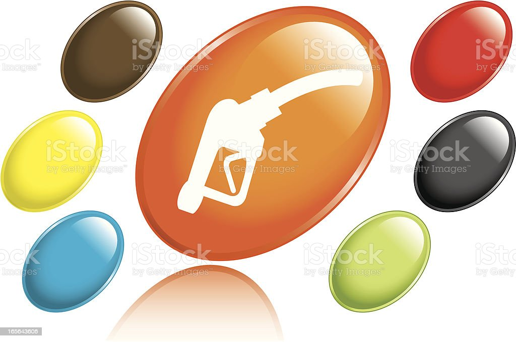 Gas Pump Icon royalty-free stock vector art