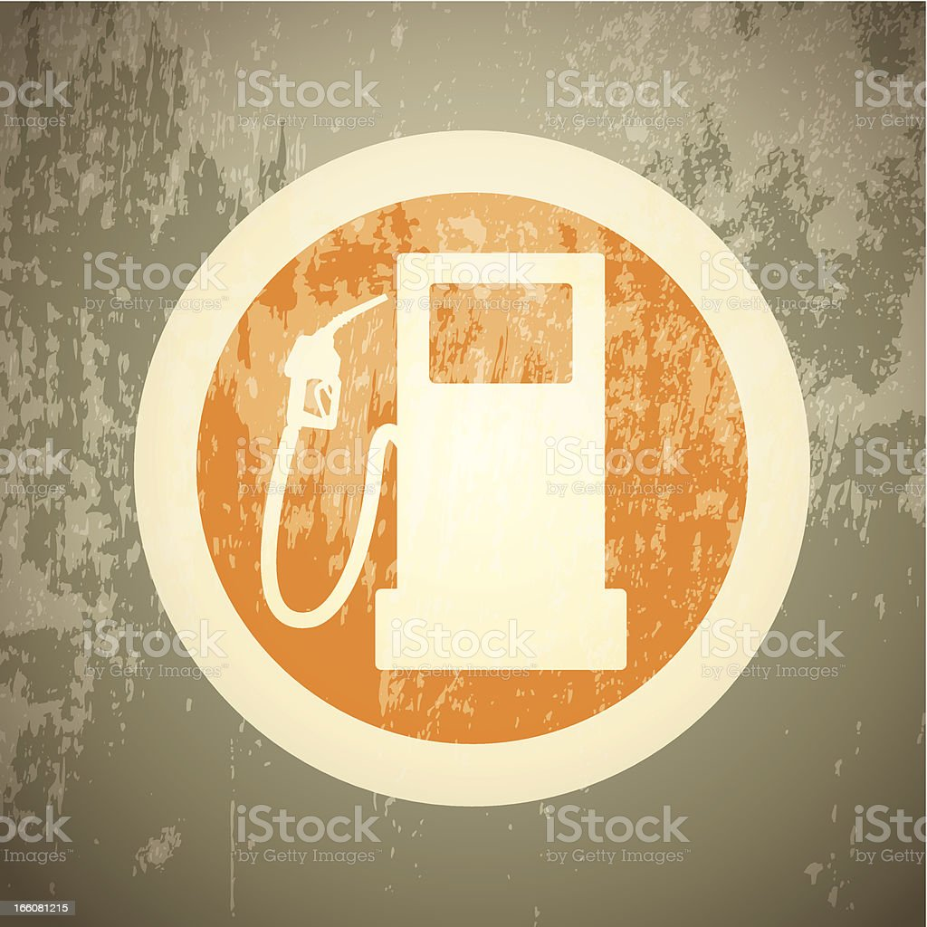 Gas Pump icon vector art illustration