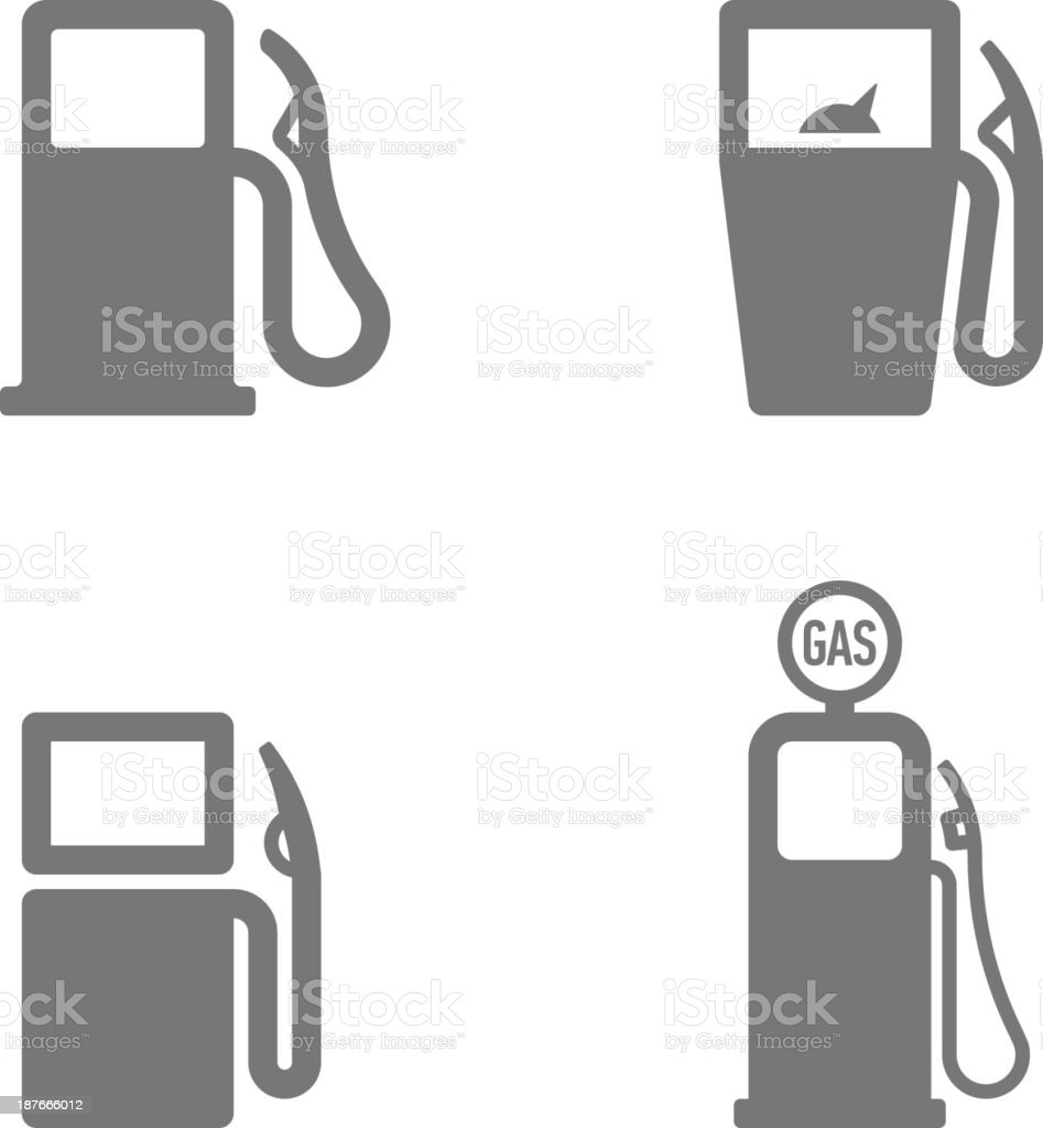 Gas pump icons vector art illustration