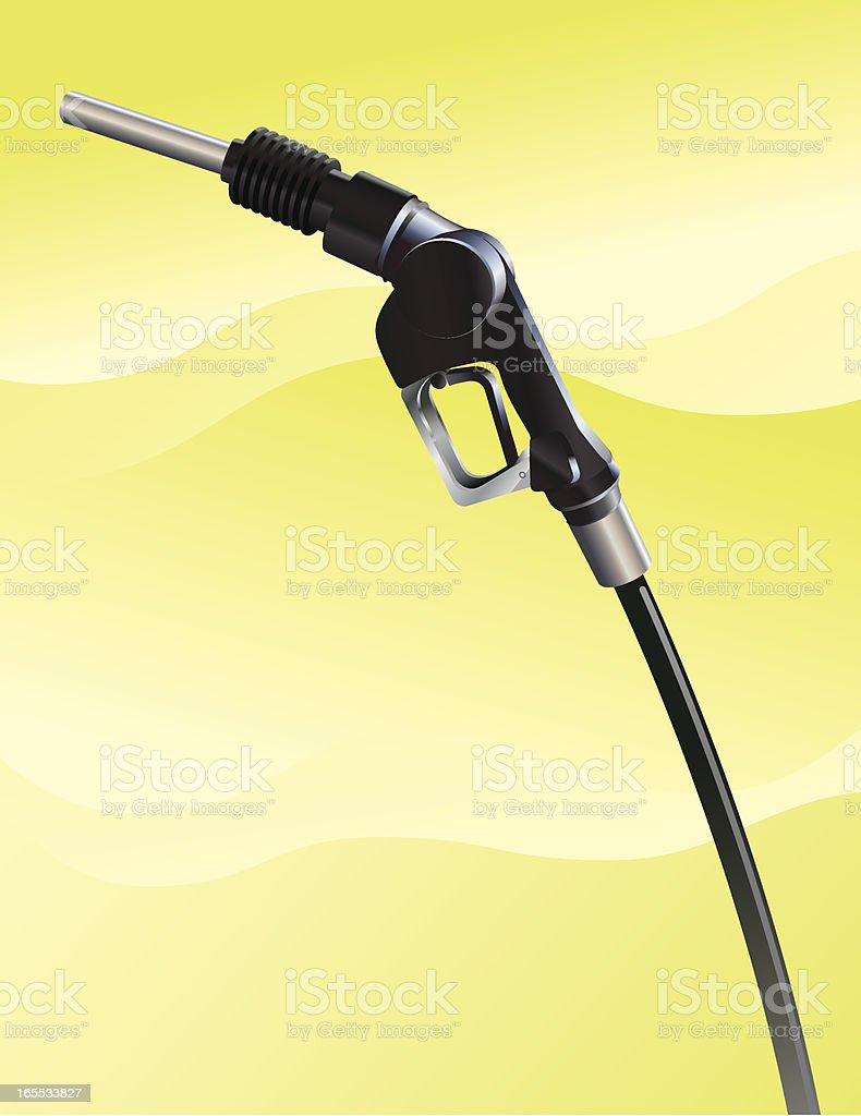Gas Pump Nozzle royalty-free stock vector art