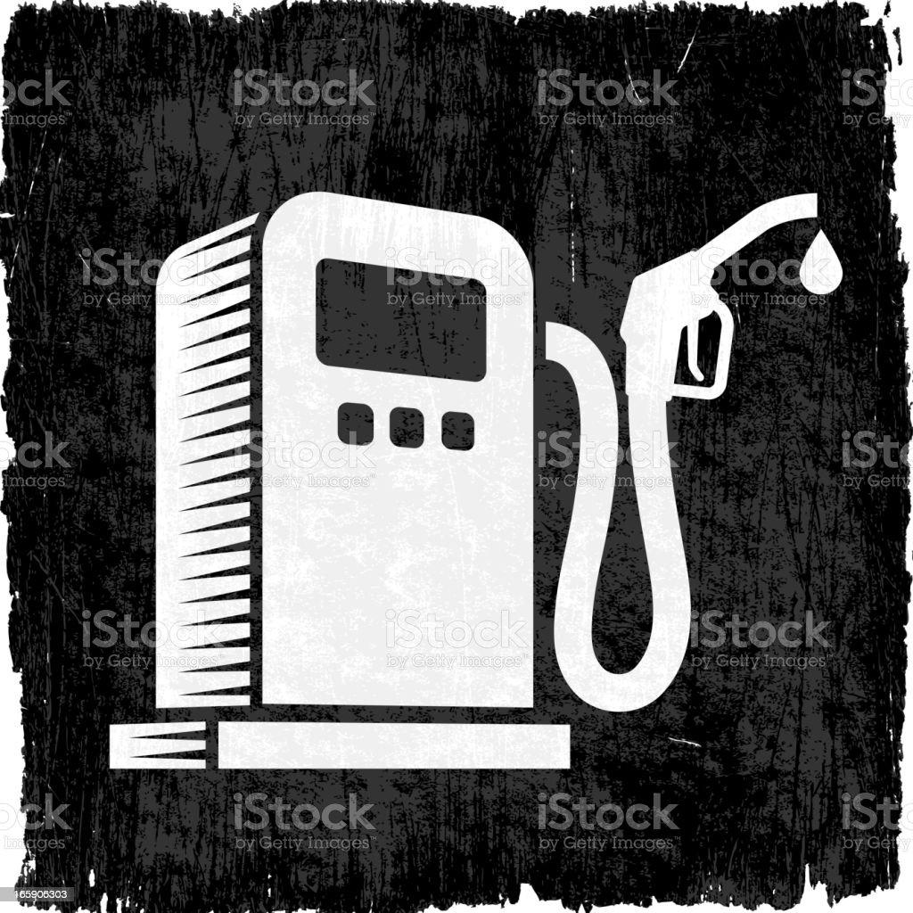 Gas Pump on Black Grunge Background vector art illustration