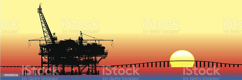 Gas Rig royalty-free stock vector art