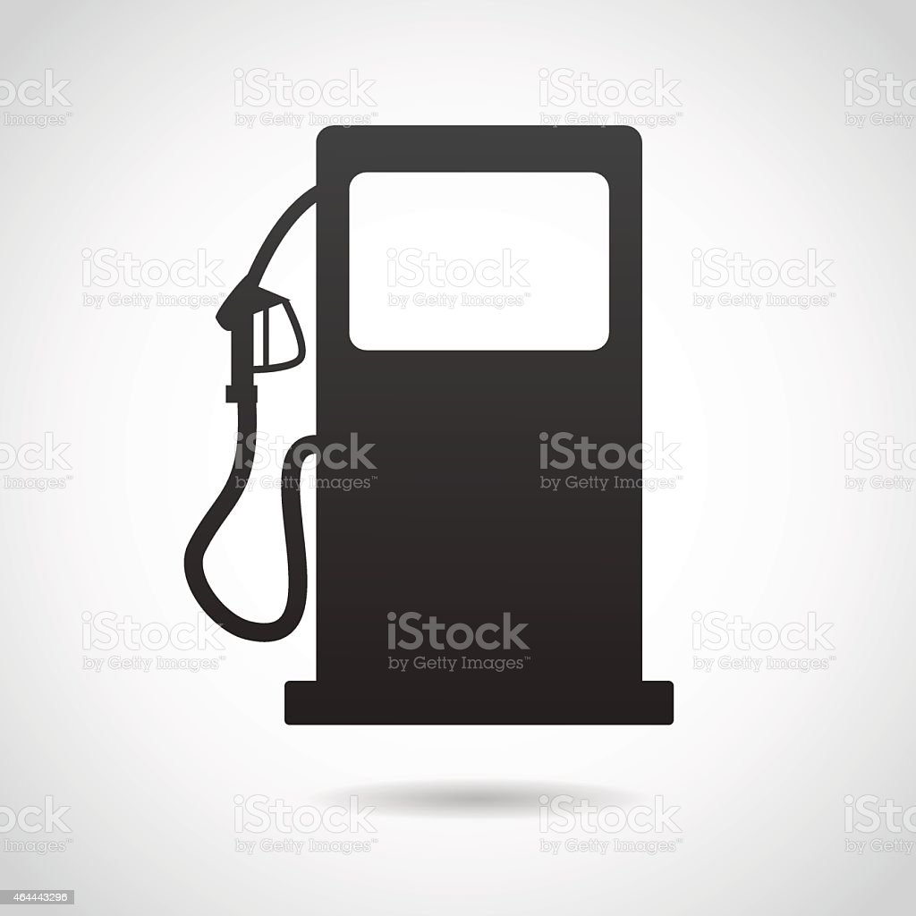 Gas station icon isolated on white background. vector art illustration