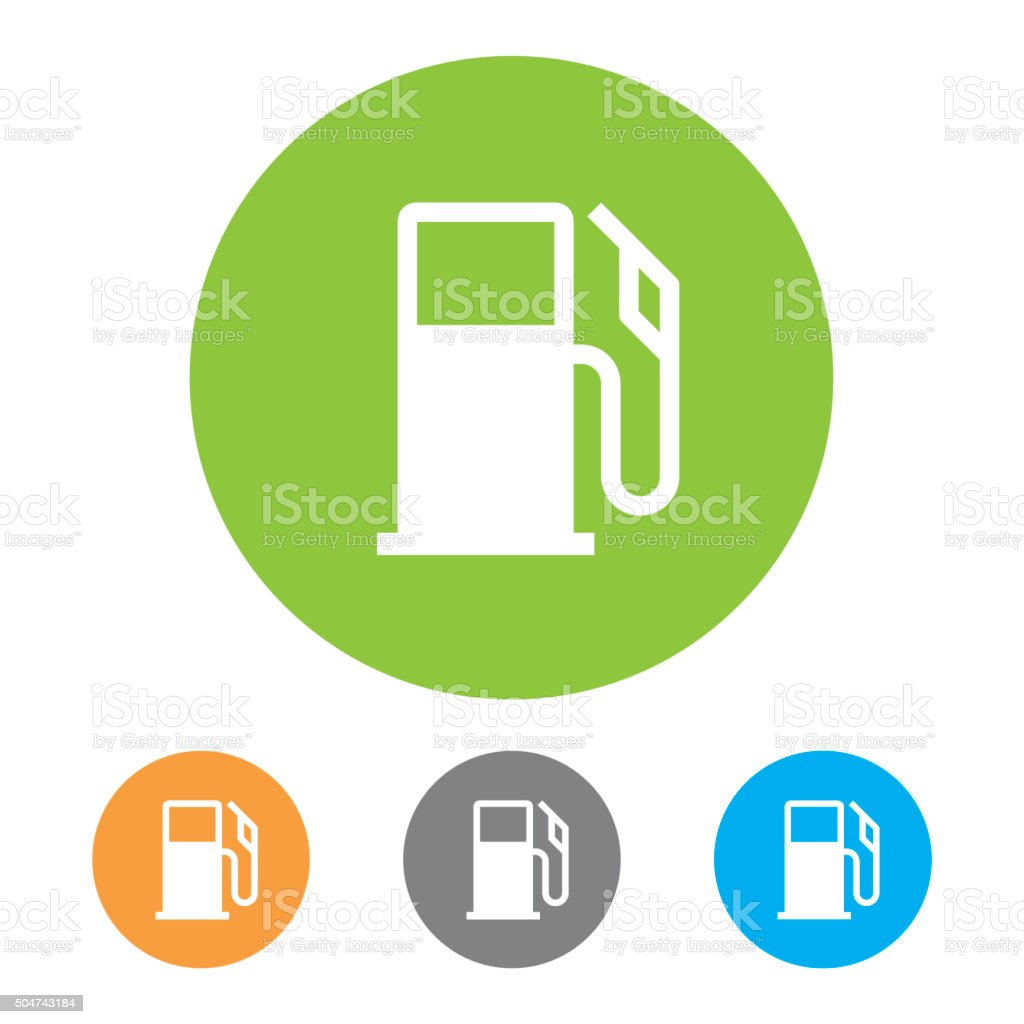 Gas Station Icons. Vector stock photo