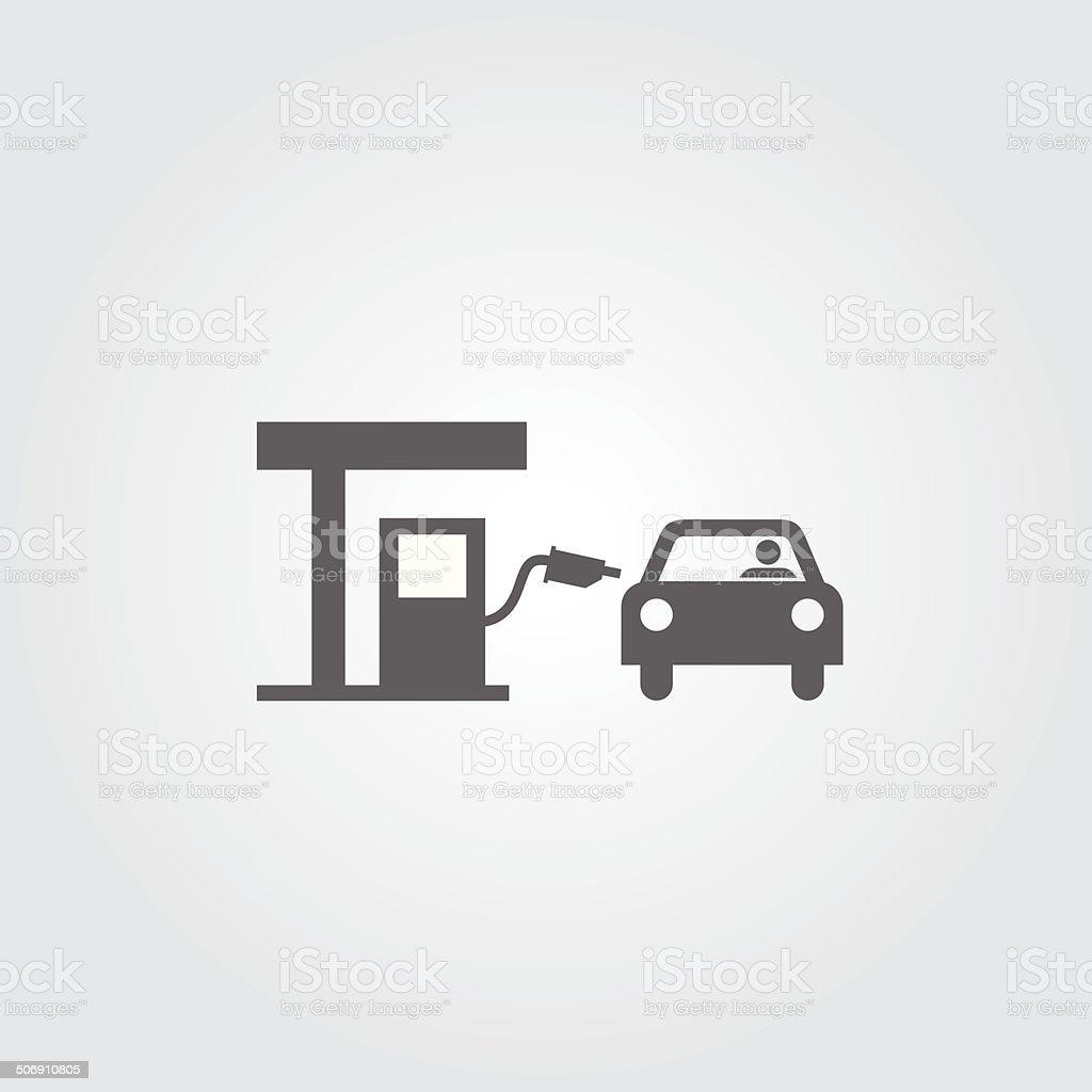 Gas station sign vector art illustration