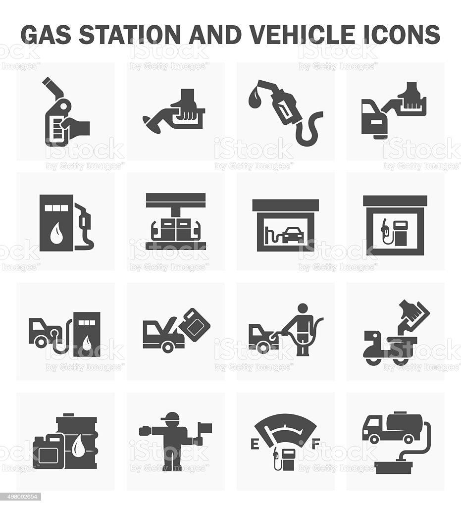 Gas station vector art illustration