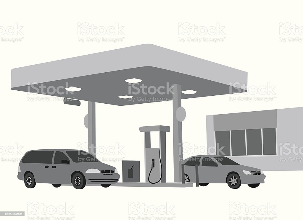 Gas Station Vector Silhouette royalty-free stock vector art