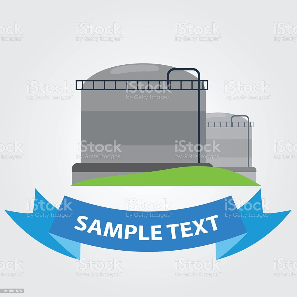 Gas storage icon. Ground storage resources. Gasholder. vector art illustration