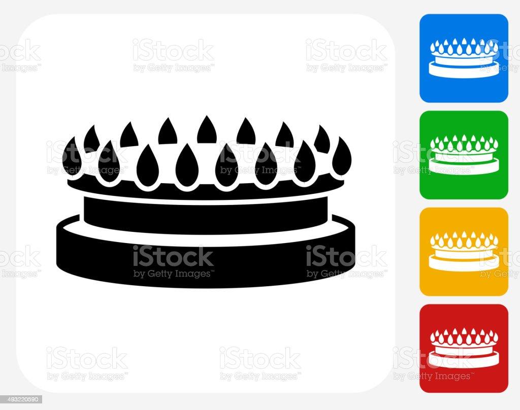 Gas Stove Icon Flat Graphic Design vector art illustration