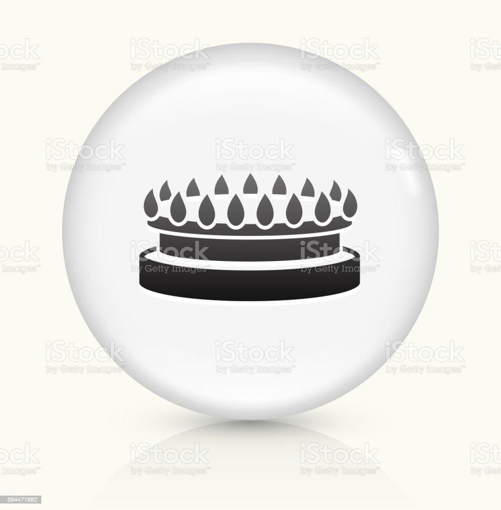 Gas Stove icon on white round vector button vector art illustration