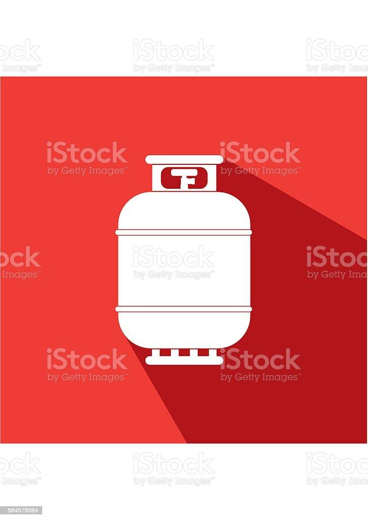 Gas tank icon. Propane cylinder pressure fuel lpd vector art illustration
