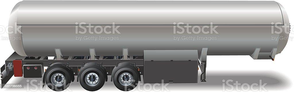 Gas tanker car royalty-free stock vector art