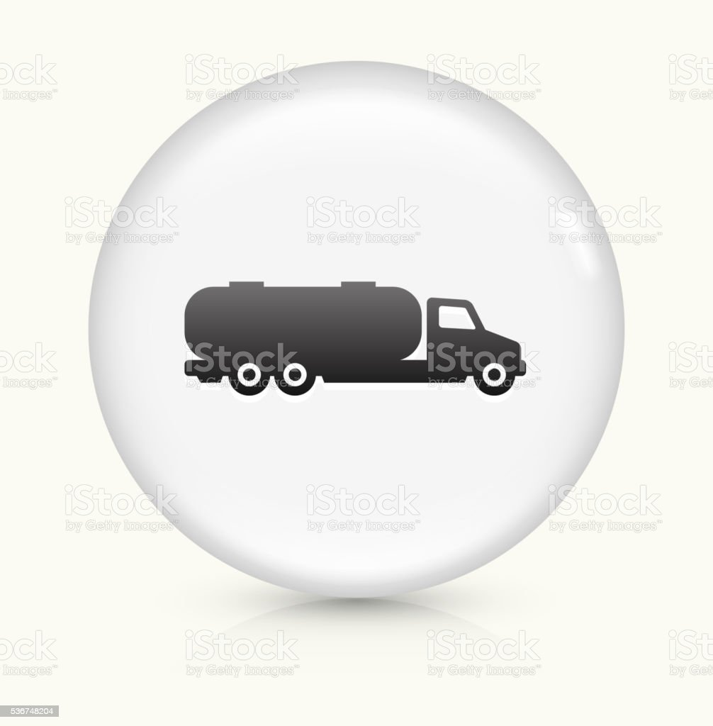 Gas Truck icon on white round vector button vector art illustration