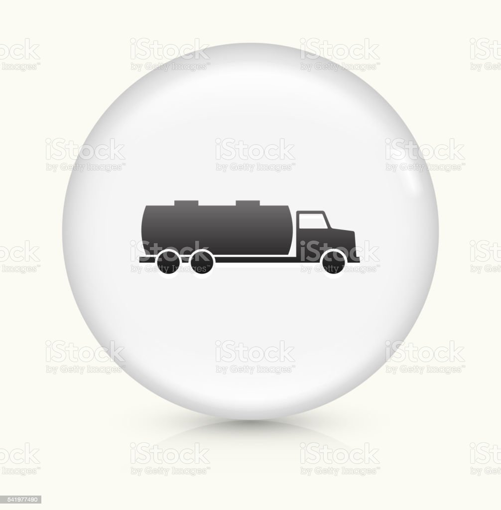 Gas Truck icon on white round vector button vector art illustration