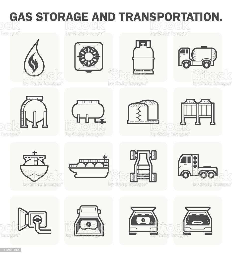 Gas vector icon vector art illustration