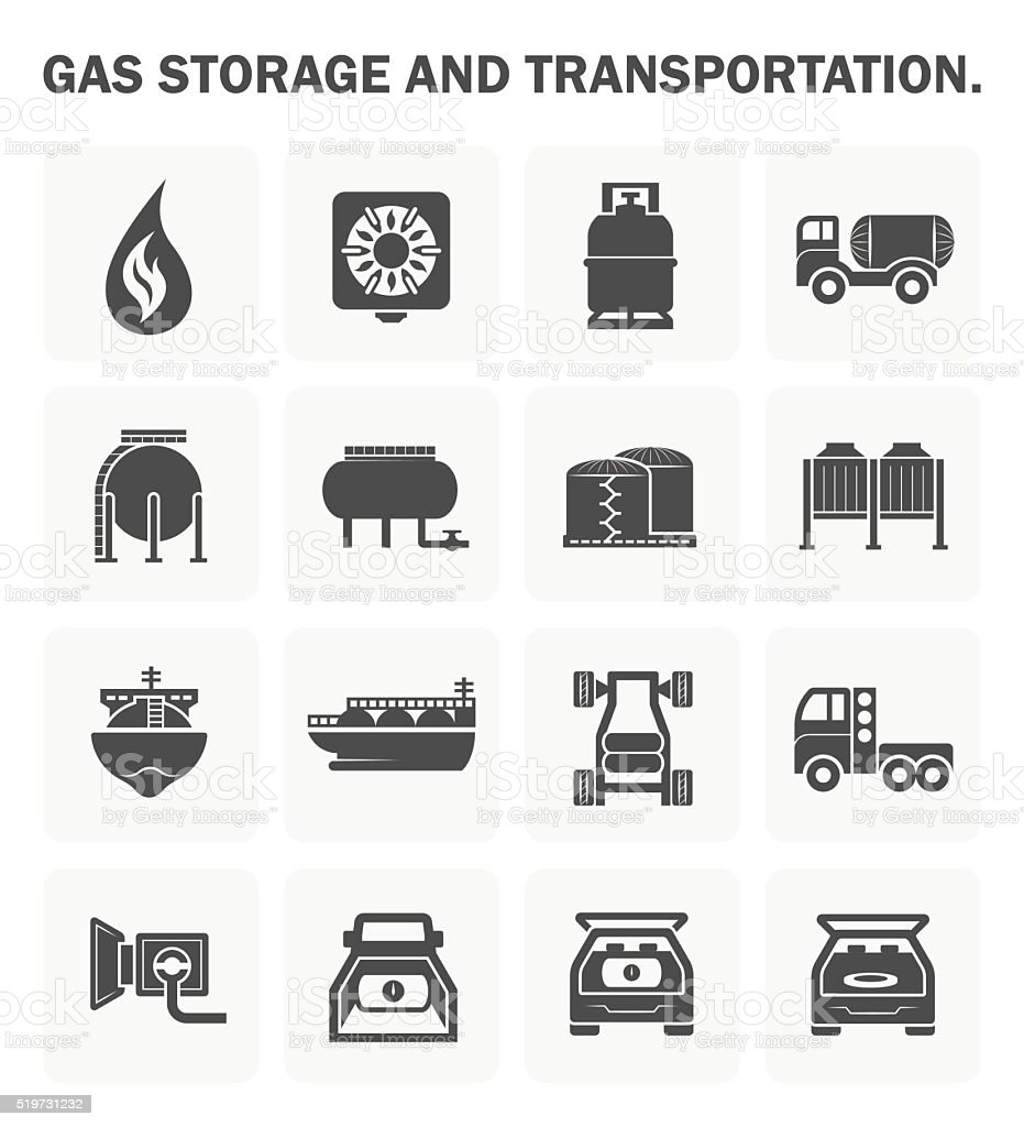 Gas vector icon vector art illustration